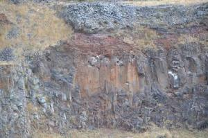 Basalt columns in Halswell Quarry