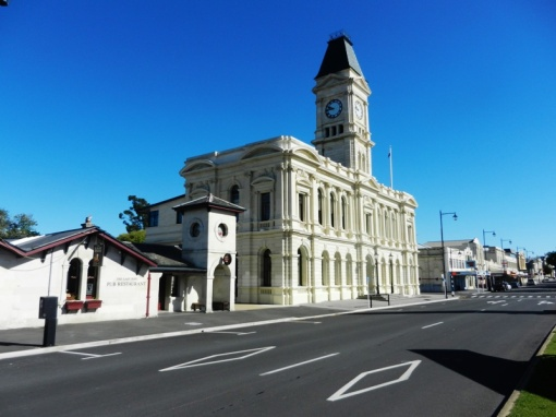 Oamaru limestone buildings