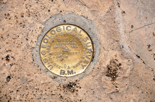 Benchmark at Bryce Canyon