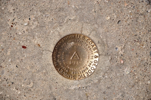 Benchmark at Hoover Dam