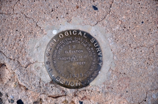 Benchmark at Navajo Bridge