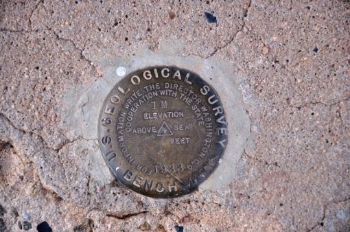 Benchmark at Navajo Bridge