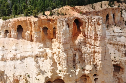 Caves eroded out of Bryce Canyon stone
