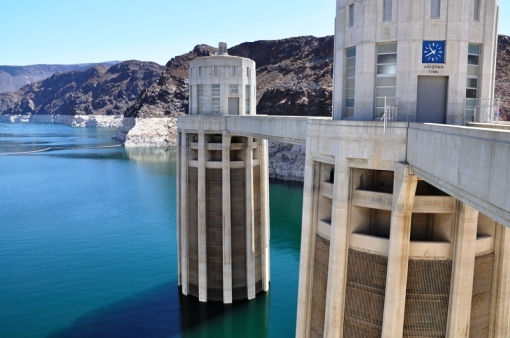 Hoover Dam - could be a scene from Myst