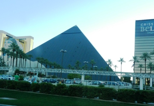 Luxor Hotel is where we stayed in Las Vegas