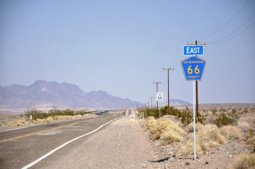 Route 66 signpost