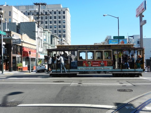 One of the San Francisco streetcars