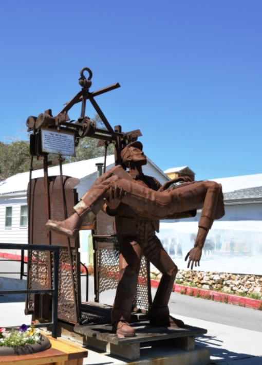 Tribute in Tonopah to the miners of the area