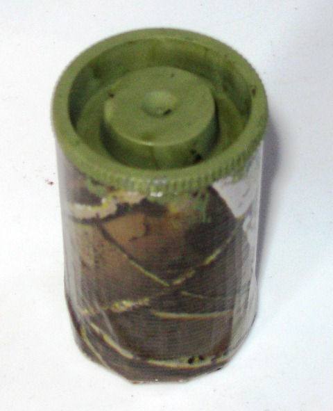 Typical film canister from Fujifilm after camo work - not watertight.