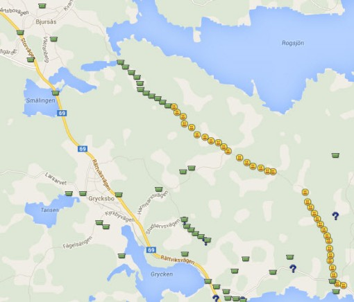 Caches to the NW of Falun