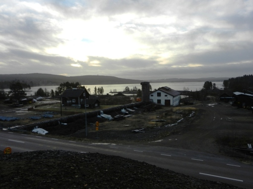 A view from the top of the Österå spoil heap.