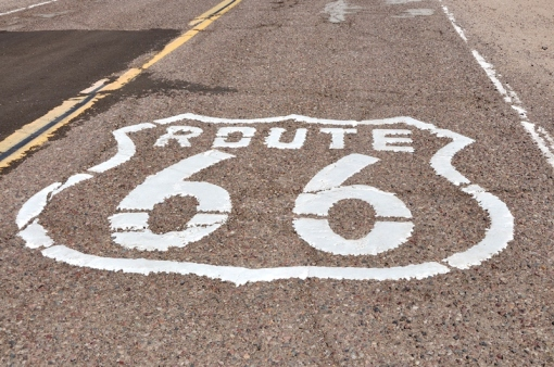 Route 66 close to Barstow