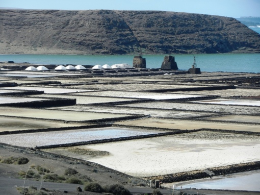 Salt pans at Salinas de Janubio
