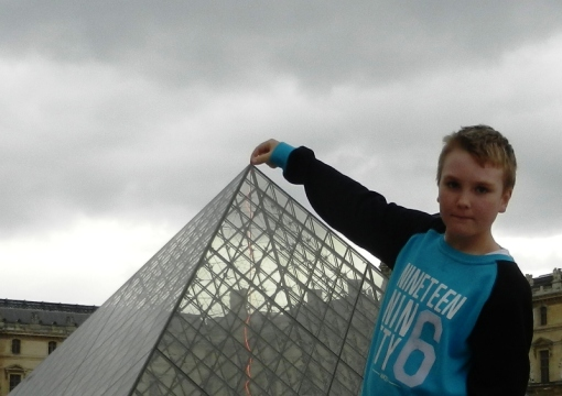 The pyramid at the Louvre was pretty light