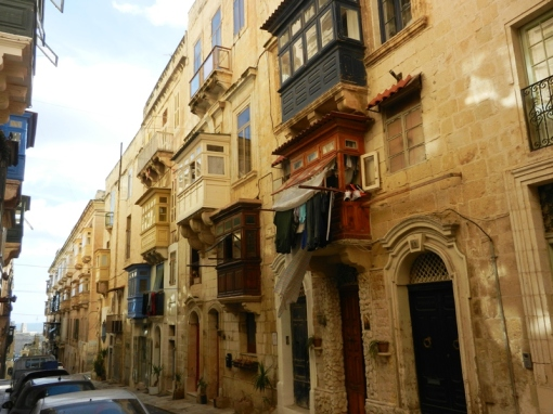 Typical street in Valletta