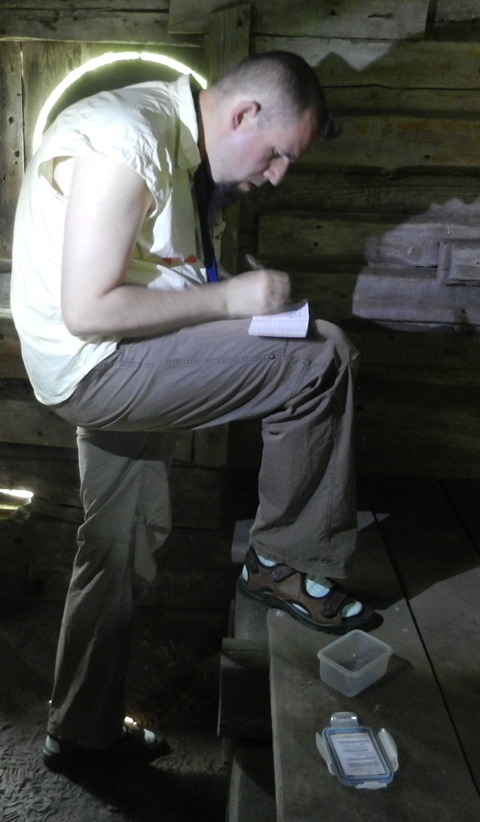 Olleoljud logging a cache at Norn