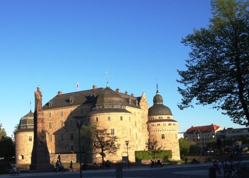 Örebro Castle on a warm late spring evening
