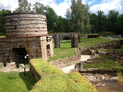Borgvik's blast furnace ruins.