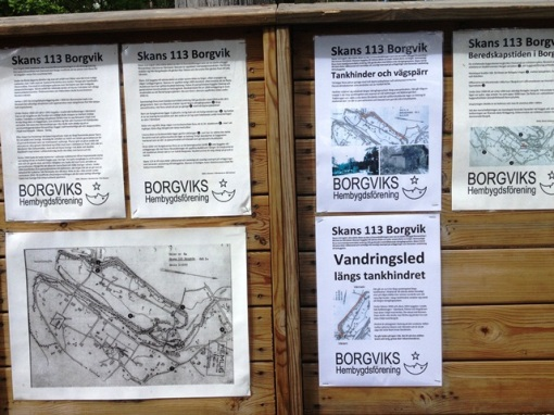 Information about the fortifications in the area from WWII.