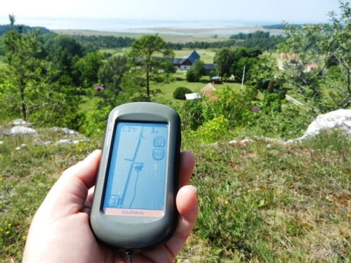 GPS at Haugklintar earthcache