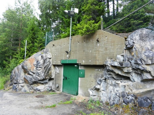 The door to the ex- civil defense control bunker. I wonder what is there now?