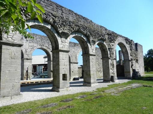 The monastery ruins at Roma