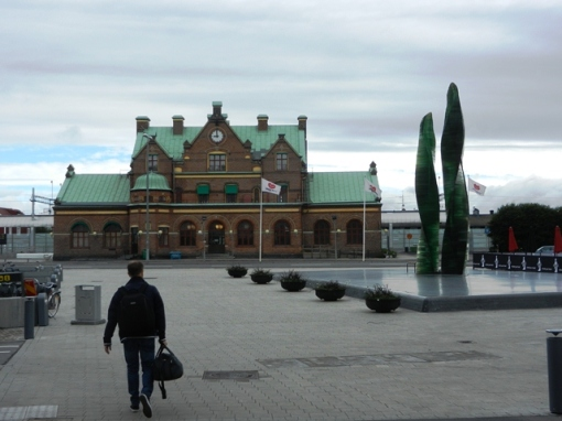 A completely different style of station in Umeå