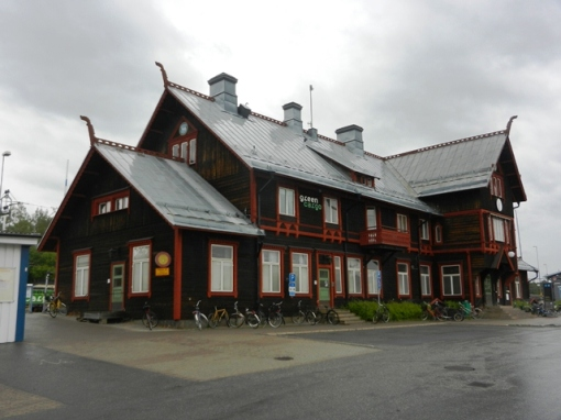 Vännäs station after restoration