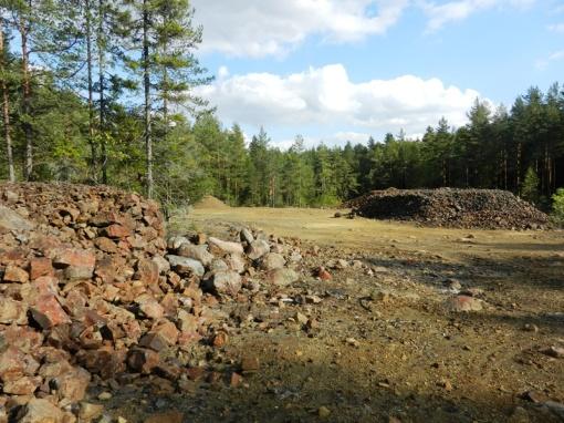 Spoil heaps from the Sågmur mine