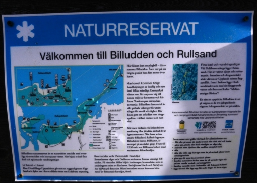 Signboard at the start of the nature reserve