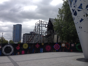 Christchurch Cathedral: Where the scafolding is there used to be a spire