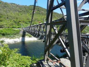 Brunner mine. Bridge over River Grey