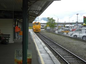 Transalpine Express approaching Greymouth station