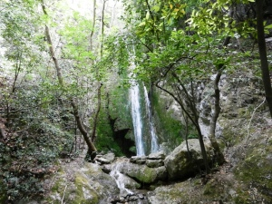 Waterfall at the village of Ampelos