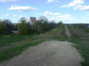 Burial mounds and 10th century church at Gamla Uppsala