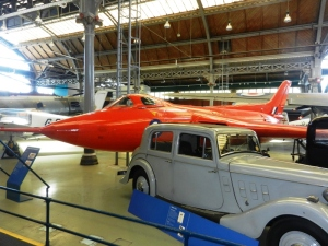 Indoor exhibits at MOSI: The Avro 707 prototype of the Avro Vulcan, now in it's last year of flying.