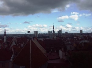 View over Tallinn old town 2004