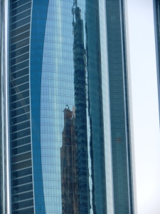 Reflections in Abu Dhabi building