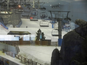 Ski slope at the Mall of the Emirates