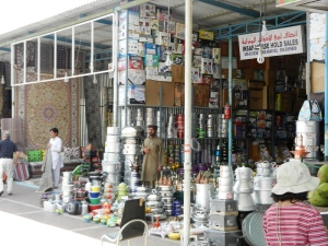Friday market near Masafi - pots and pans