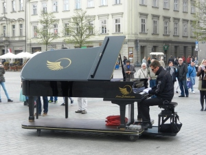 Street musician in the main market square!