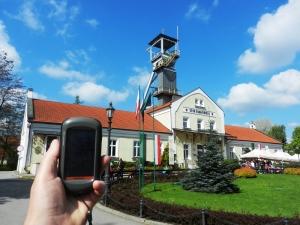 Posing for the Wieliczka Salt Mine earthcache