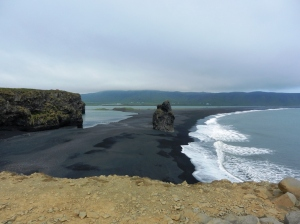 The black sands at Dyrhólaey