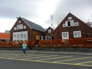 Gamli Baukur restaurant at the harbour in Husavik