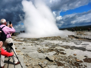 The geyser Stukkor in action