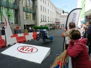 Soap box derby in St Peter Port